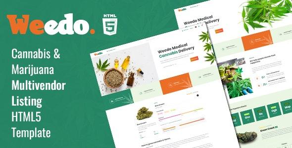 Weedo | Cannabis Listing HTML5 Template - Health & Beauty Retail