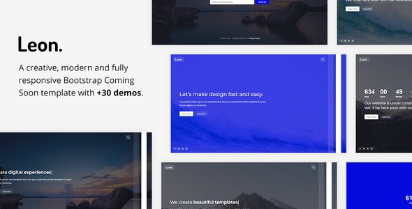 Leon - Responsive Coming Soon Template - Under Construction Specialty Pages