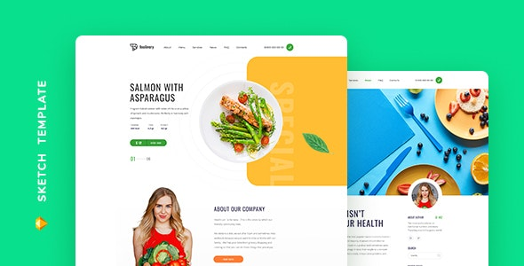 Foolivery – Health Food Template for Sketch - Food Retail