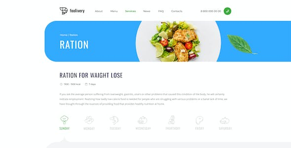 Foolivery – Health Food Template for Sketch