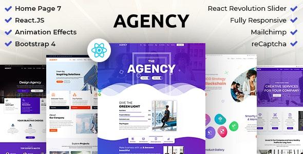 Agency : Creative Business Multipurpose ReactJS Template - Creative Site Templates
