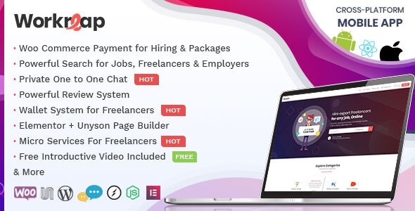 Workreap - Freelance Marketplace and Directory WordPress Theme - Directory & Listings Corporate