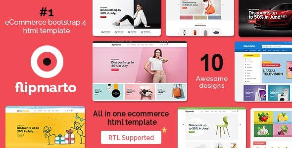 Flipmarto - eCommerce Bootstrap 4 HTML Template - Shopping Retail