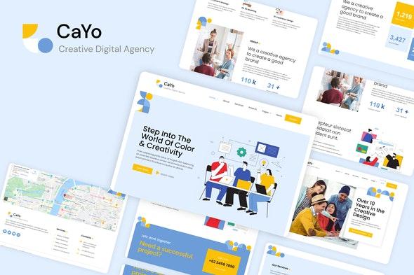 CaYo - Creative Agency Elementor Template Kit - Creative & Design Elementor
