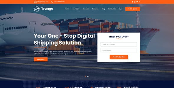 Trango - Transport & Logistics PSD Template