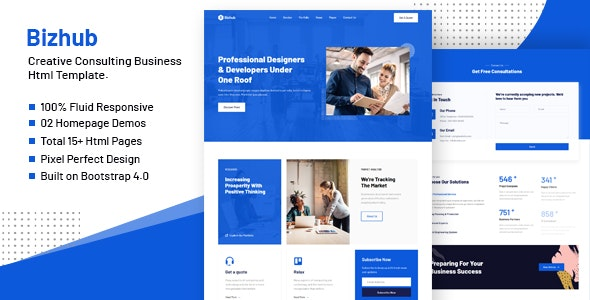 Bizhub - Consulting Business HTML Template - Business Corporate