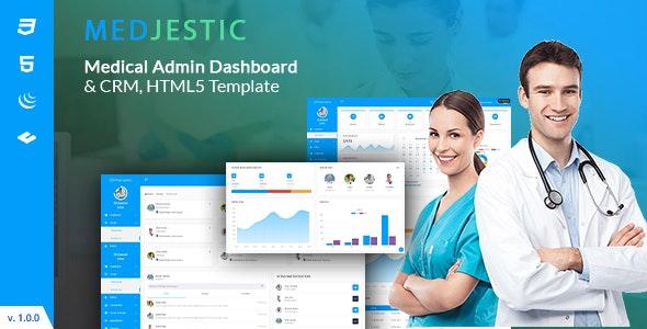 Medjestic - Medical Dashboard Admin Template - Admin Templates Site Templates
