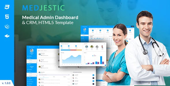 Download Medjestic - Medical Dashboard Admin Template