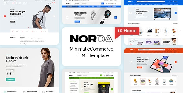 Norda - Minimal eCommerce HTML Template - Fashion Retail