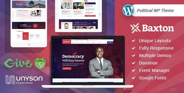 Baxton - Political WordPress Theme - Political Nonprofit