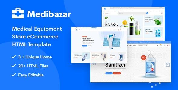 Medibazar - Medical Equipment Store eCommerce HTML Template