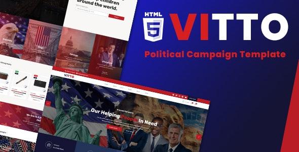 Vitto | Political Campaign HTML5 Template - Political Nonprofit