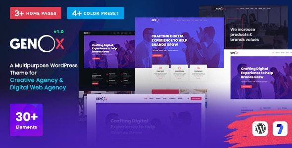 Genox - Creative Gutenberg WordPress Theme - Portfolio Creative