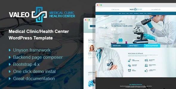 Valeo - health center and hospital WordPress Theme - Health & Beauty Retail