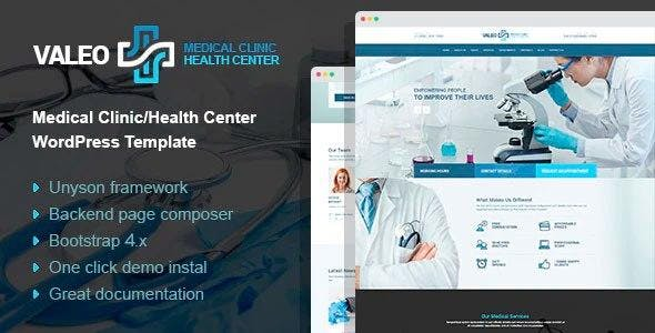 Valeo - health center and hospital WordPress Theme