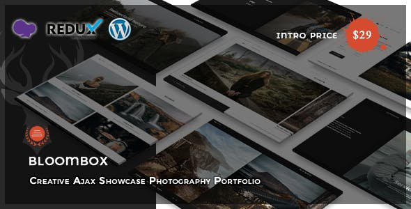 Download Bloombox - Ajax Showcase Photography WordPress Theme
