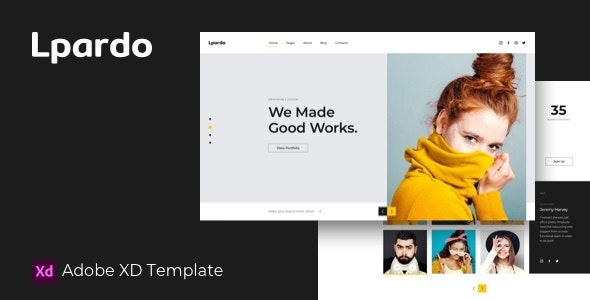 Lpardo — Creative agency Adobe XD Template - Creative Adobe XD