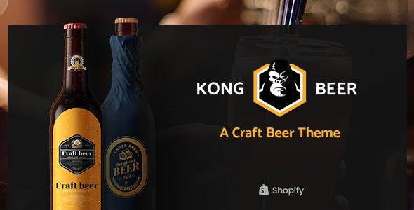 Kong - Alcohol, Beer & Liquor Store Shopify Theme