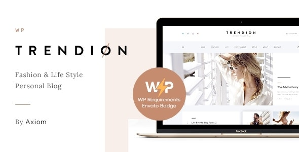 Trendion | A Personal Lifestyle Blog and Magazine WordPress Theme - Blog / Magazine WordPress