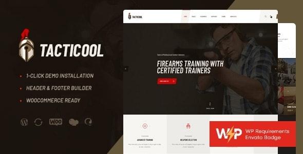 Tacticool | Shooting Range & Gun Store WordPress Theme - Retail WordPress