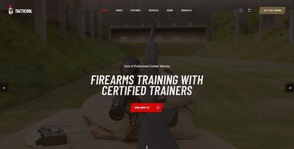 Tacticool | Shooting Range & Gun Store WordPress Theme