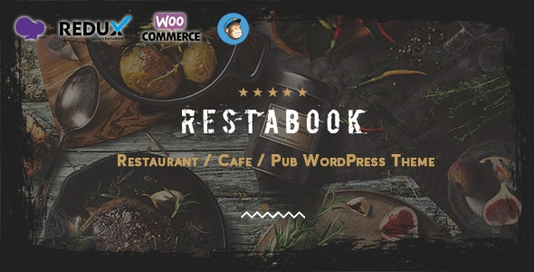 Restabook - Restaurant / Cafe / Pub   WordPress Theme - Restaurants & Cafes Entertainment