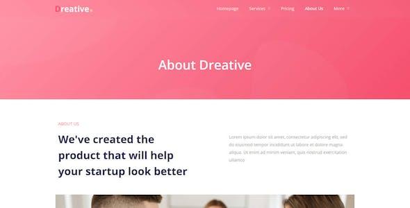 Dreative | Agency Elementor Template Kit