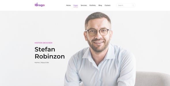 Drago — Creative and Digital Agency Adobe XD Template