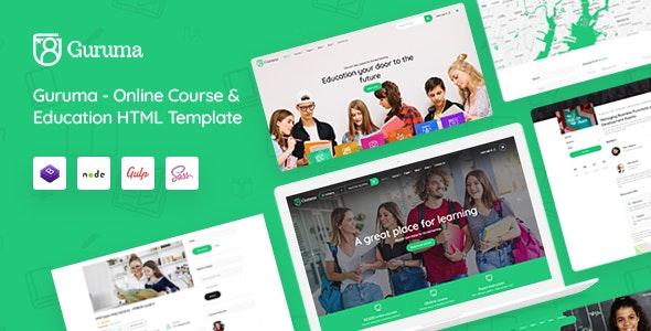 Guruma - Online Course & Education HTML Template - Business Corporate
