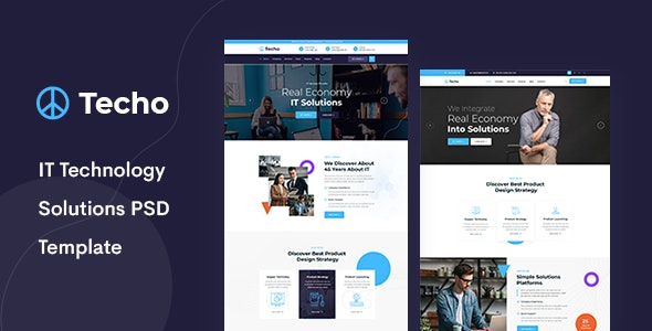 Techo - IT Solutions & Digital Services PSD Template - Business Corporate