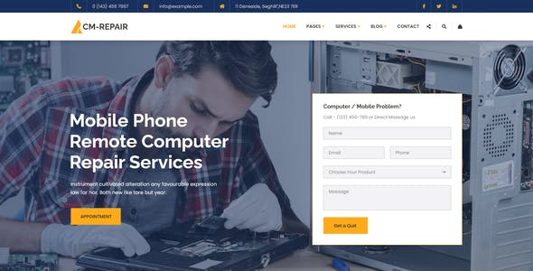CM-Repair - Computer and Mobile Repair Store HTML Template