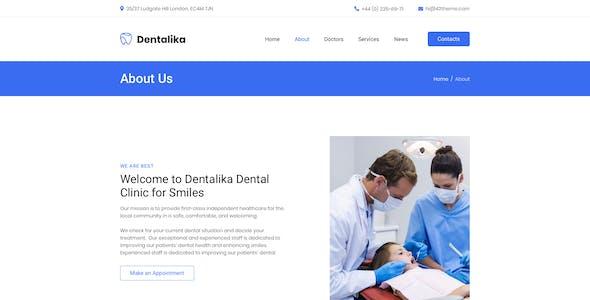 Dentalika — Dental clinic Adobe XD Template