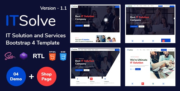 ITsolve - IT Solution and Services Template - Business Corporate
