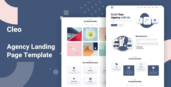 Cleo - Agency Landing Page Template - Business Corporate