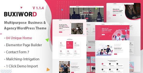 Buxiword - Digital Agency WordPress Theme - Creative WordPress