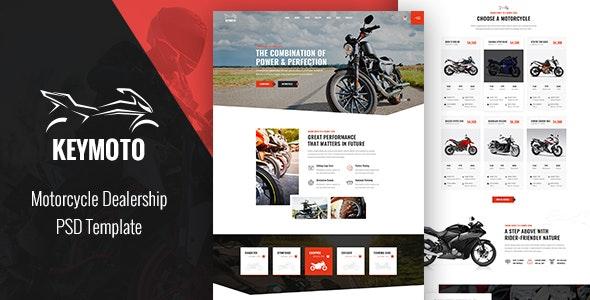Keymoto - Motorcycle PSD Template - Retail Photoshop