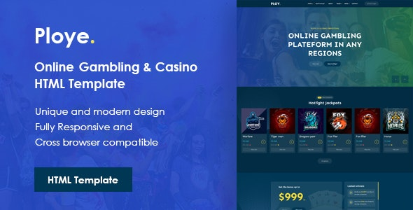 Ploye - Online Gambling and Casino HTML Template - Technology Site Templates