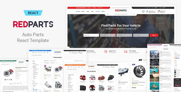 Download RedParts - Auto Parts React eCommerce Template