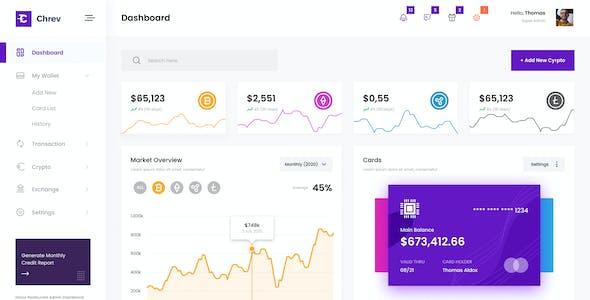Chrev - Crypto Admin Dashboard UI PSD Template