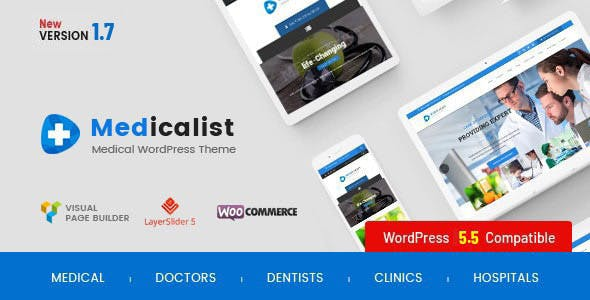 Medicalist - An All-in-One WP Medical Theme with Appointment and Blood Donation System