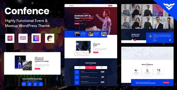 Confence - Event & Meetup WordPress Theme - Events Entertainment