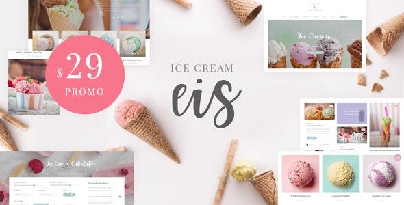 Eis - Ice Cream Shop WordPress Theme - Food Retail