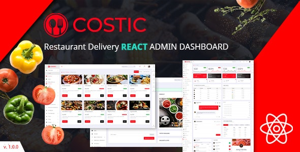 Costic | Restaurant Dashboard React Template - Admin Templates Site Templates