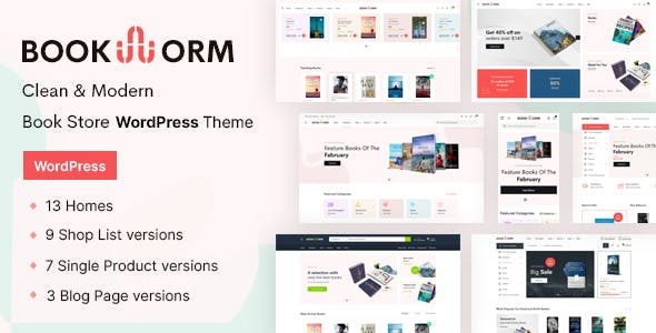 Download Bookworm - Bookstore & Bookshop WooCommerce Theme