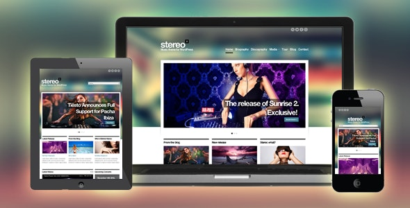 Stereo Squared - Responsive Music HTML template - Music and Bands Entertainment