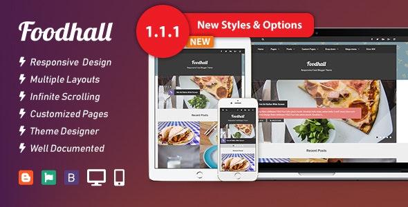 Foodhall Responsive Food Blogger Theme - Blogger Blogging
