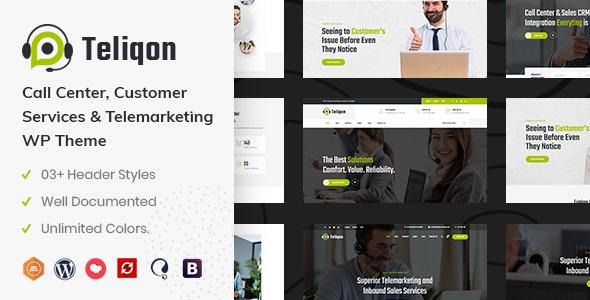 Teliqon | Call Center & Telemarketing WordPress Theme - Business Corporate