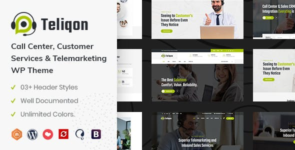 Download Teliqon | Call Center & Telemarketing WordPress Theme