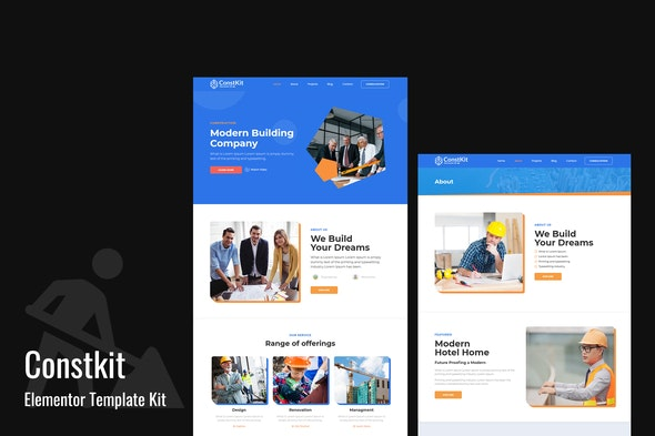 Constkit - Construction and Industrial Elementor Template - Real Estate & Construction Elementor