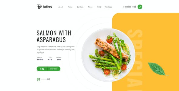 Foolivery – Health Food Template for XD